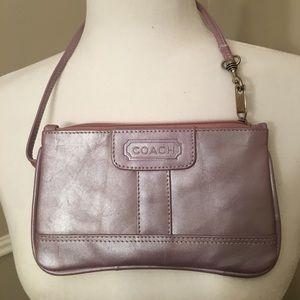 Coach wristlet  purse/ new/lavender metallic